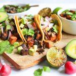 vegan mantarlı taco