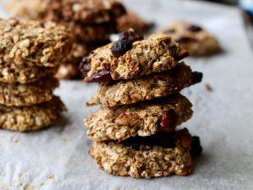 kuru üzümlü yulaflı vegan kurabiye