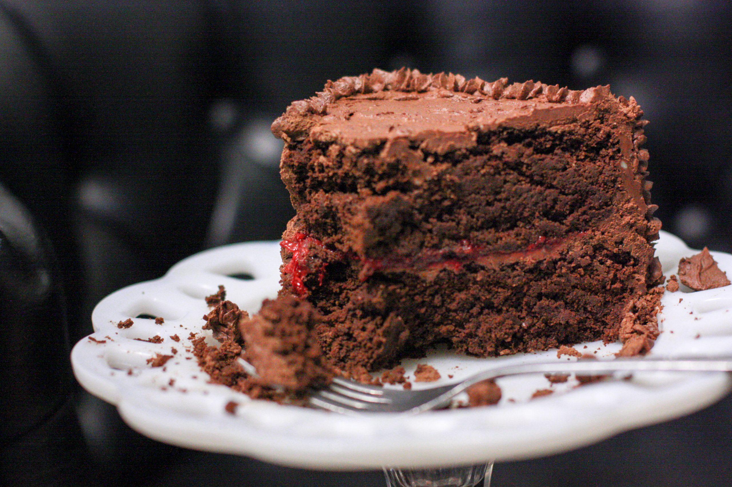 çikolatalı vegan pasta