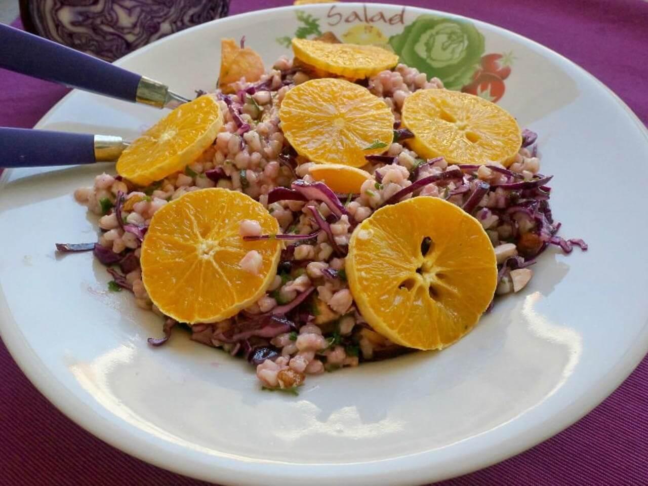 portakallı buğday salatası