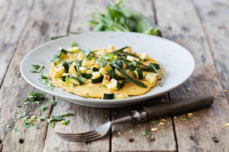 vegan kabaklı omlet