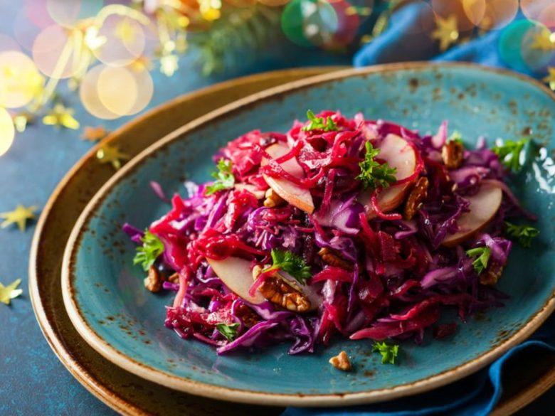 sotelenmiş mor lahana salatası