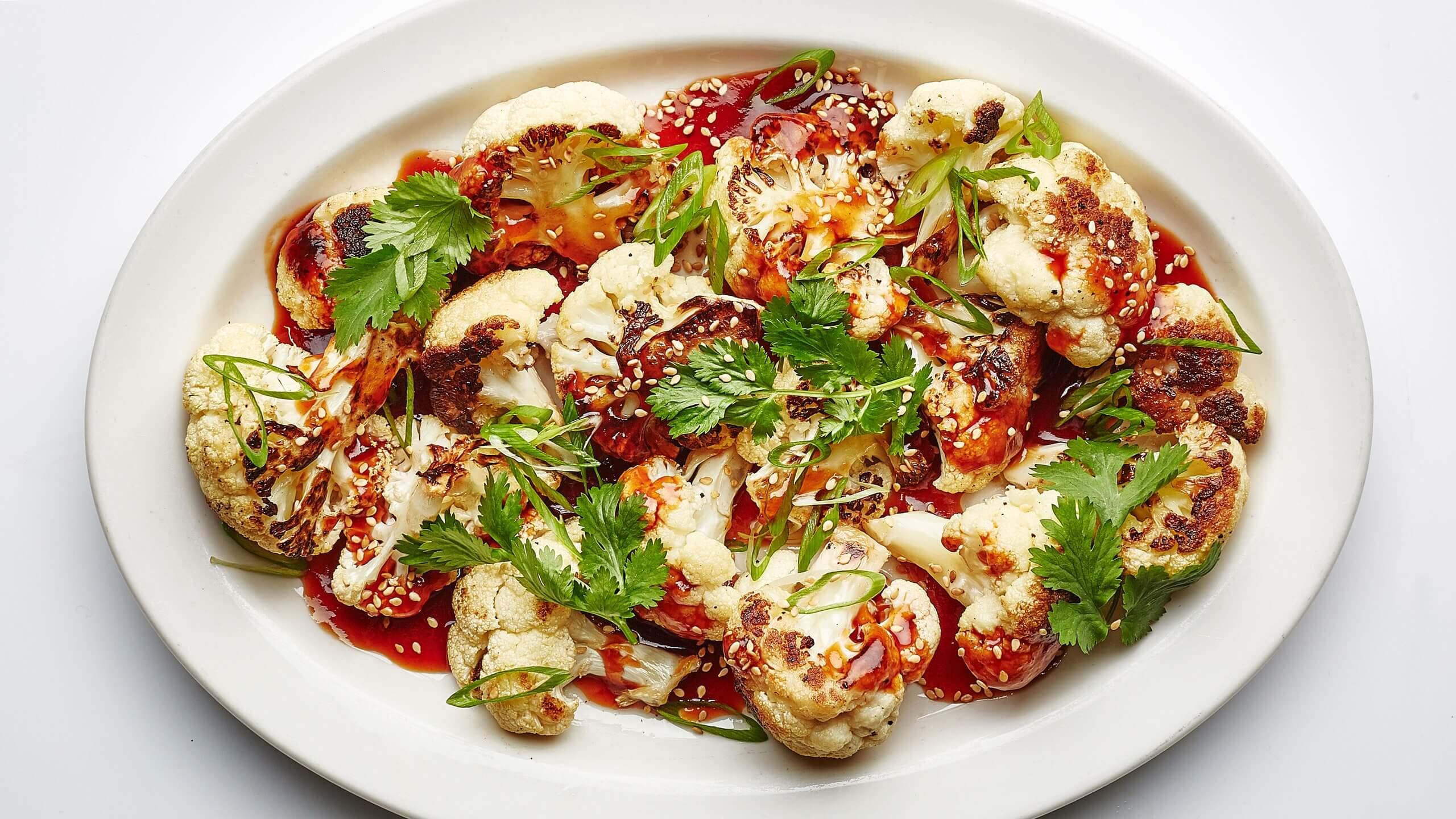 tatlı ekşi soslu karnabahar