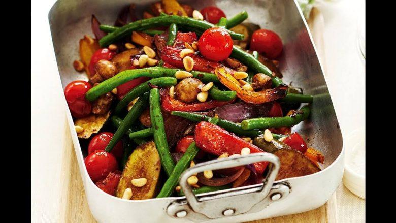taze fasulyeli köz biberli salata tarifi